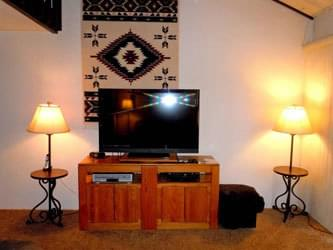 Living Room With TV - Snow Summit - Big Bear Townhouse